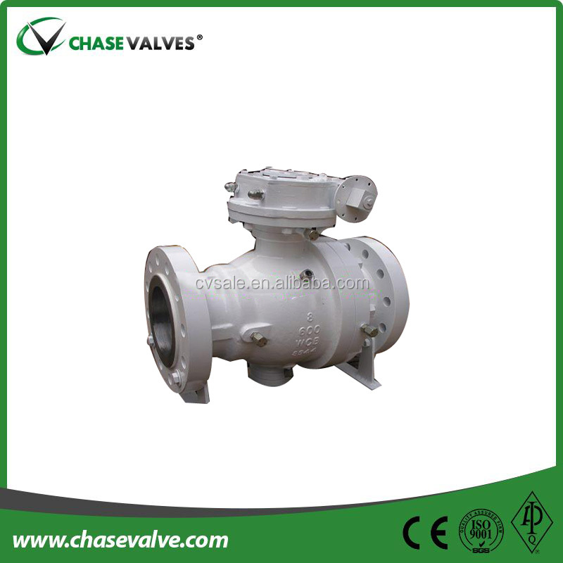Api6d Wcb 8 Inch Trunnion Flanged Ball Valve Two Piece With Worm ...
