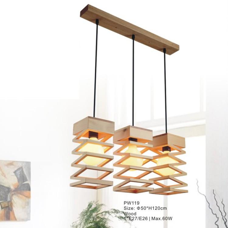 moderne en bois pendentif clairage lustre suspendu lampe. Black Bedroom Furniture Sets. Home Design Ideas