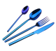 Hotel Home Restaurant Usage Cutlery Set Elegant Blue Spoon Fork Knife
