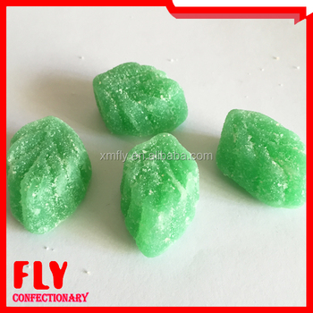 8af7fe436d0 Mint Leaf Shape Peppermint Flavour Soft Jelly Gummy Candy - Buy ...