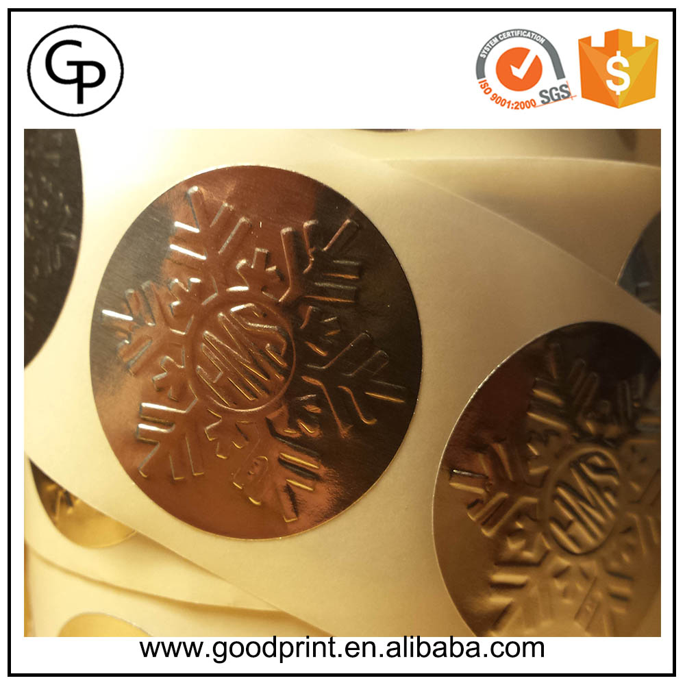 Custom logo printed gold foil embossed seal sticker buy embossed stickerembossed seal stickergold embossed sticker product on alibaba com
