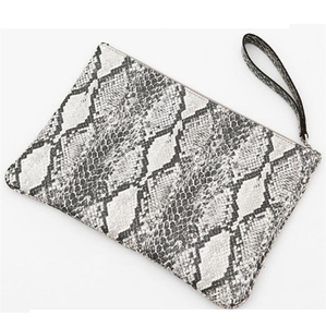 Fashion korea snake skin ladies hand purse envelope clutch bag