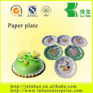Custom printed wedding tableware shaped paper plate