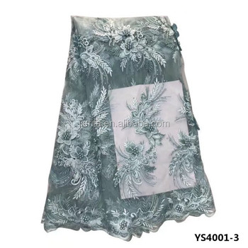 YS4001-3 African wedding french tulle net lace