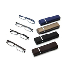FONHCOO Fashion Rectangle Frame 1.25 1.75 2.75 Multicolor Mini Reading Glasses With Case