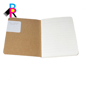A5 Custom Pages Yellow Composition Notebook Chinese Prices Kraft Cover Notebook Cardboard Blank Notebook With Pockets