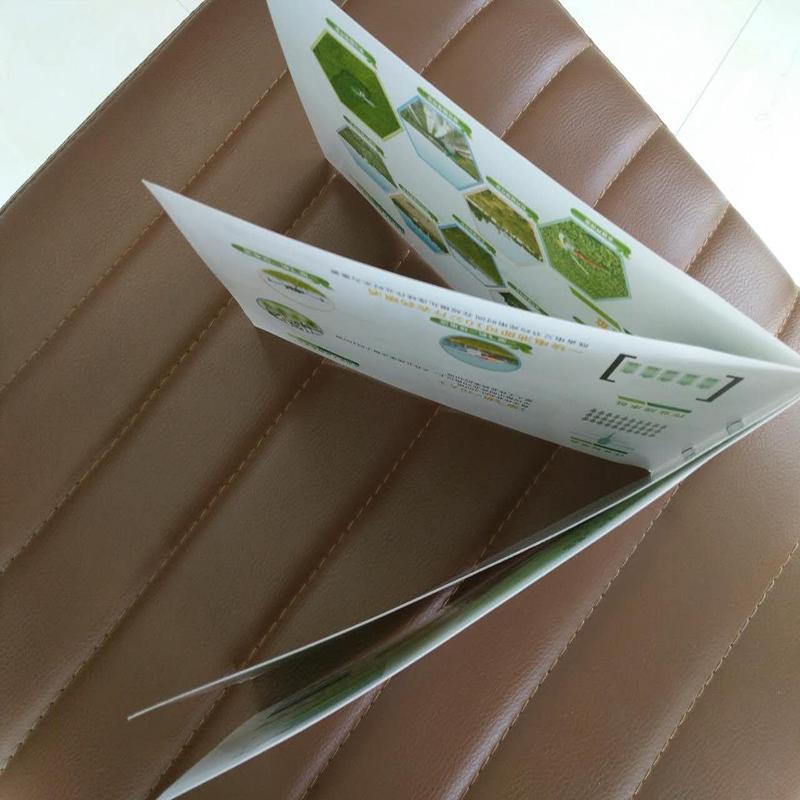 Glossy tri -folding brochure, magazine, flyer, book printing