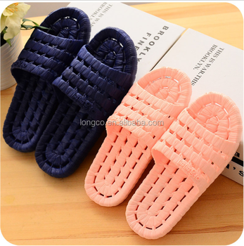cheap wholesale new design pink pvc blowing bath slippers