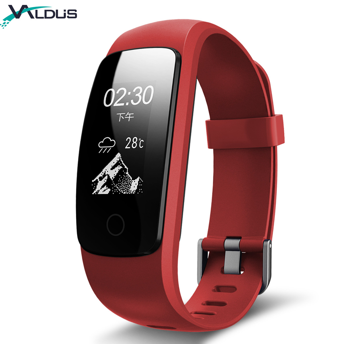 Heart Rate Sleep Monitor Pedometer with GPS Sedentary Reminder Blood Oxygen Wristband Music Control for IOS & Android id107