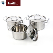 5 Pcs Stainless Steel Cookware Set / Cooking Soup Pot Set With Stainless Steel Lids