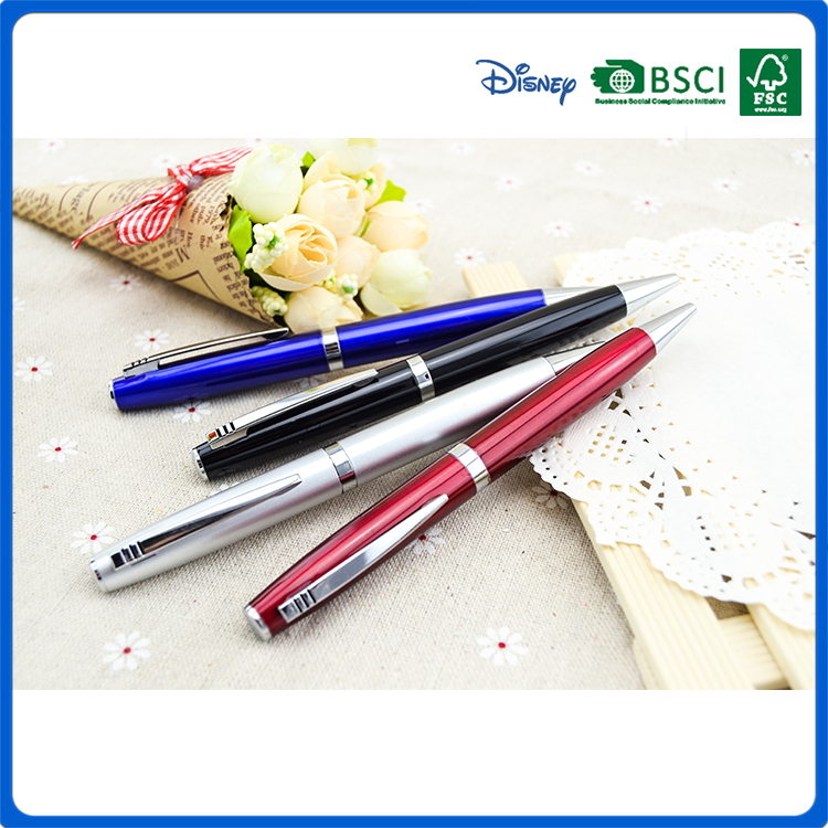2016 cheap rotary press plastic ball pen for office & student