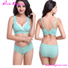 Light Green No Steel Ring Wholesale Sexy Adult Maternity Nursing Bra