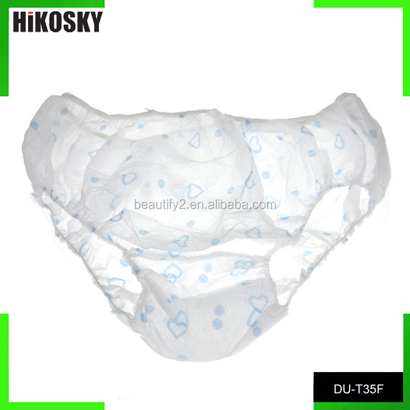 Disposable white nonwoven briefs for spa