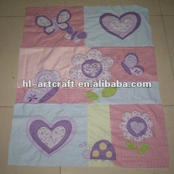 Purple Heart Handmade Baby Quilt Size