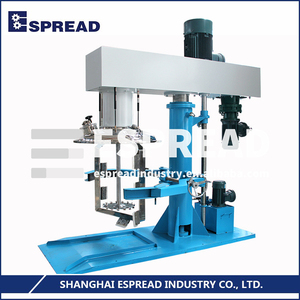 ESPREAD Professional Support ESDT-series Safety Hydraulic-lift System 0-1500rpm Double Shafts Disperser Oil Blender