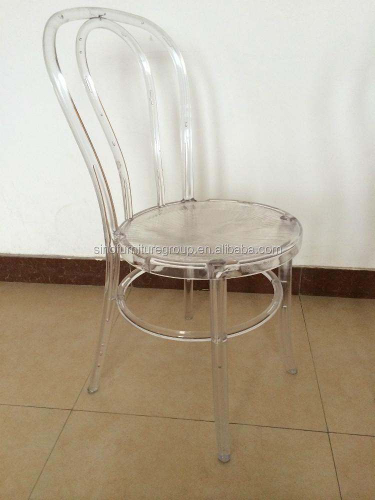 Nuovo modello resina trasparente thonet sedia sedie di - Sedia pieghevole trasparente ...