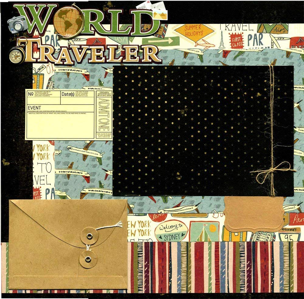 World Traveler- Premade Scrapbook Page