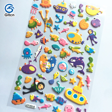 Custom puffy stickers, kids 3d foam stickers