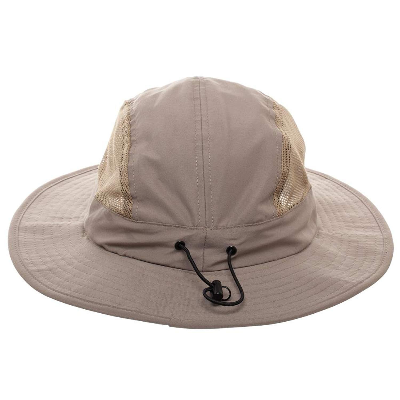 a0cc8c0681375 Get Quotations · Free Authority Modified Mens Khaki Boonie Hat w Neck  Drape