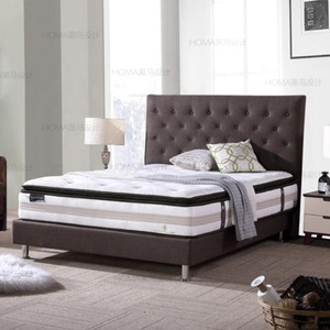 Open pocket coil spring system double queen king size pillow top mattress furniture sale