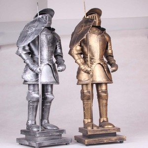Mettle New Arrival Ancient Warriors Figurines Medieval Knight Armour For Table Decoration