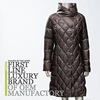 2016 Russian Classic Women Slim Fit Long Goose Down Coat with Big Round Fancy Collar