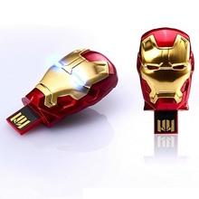 Iron Man Mini USB Flash Drive 8GB 16GB 32GB 64GB 128GB 256GB 512GB 1TB 2TB Pen Driver Pendrive Flash Memory Card Stick Key Gift