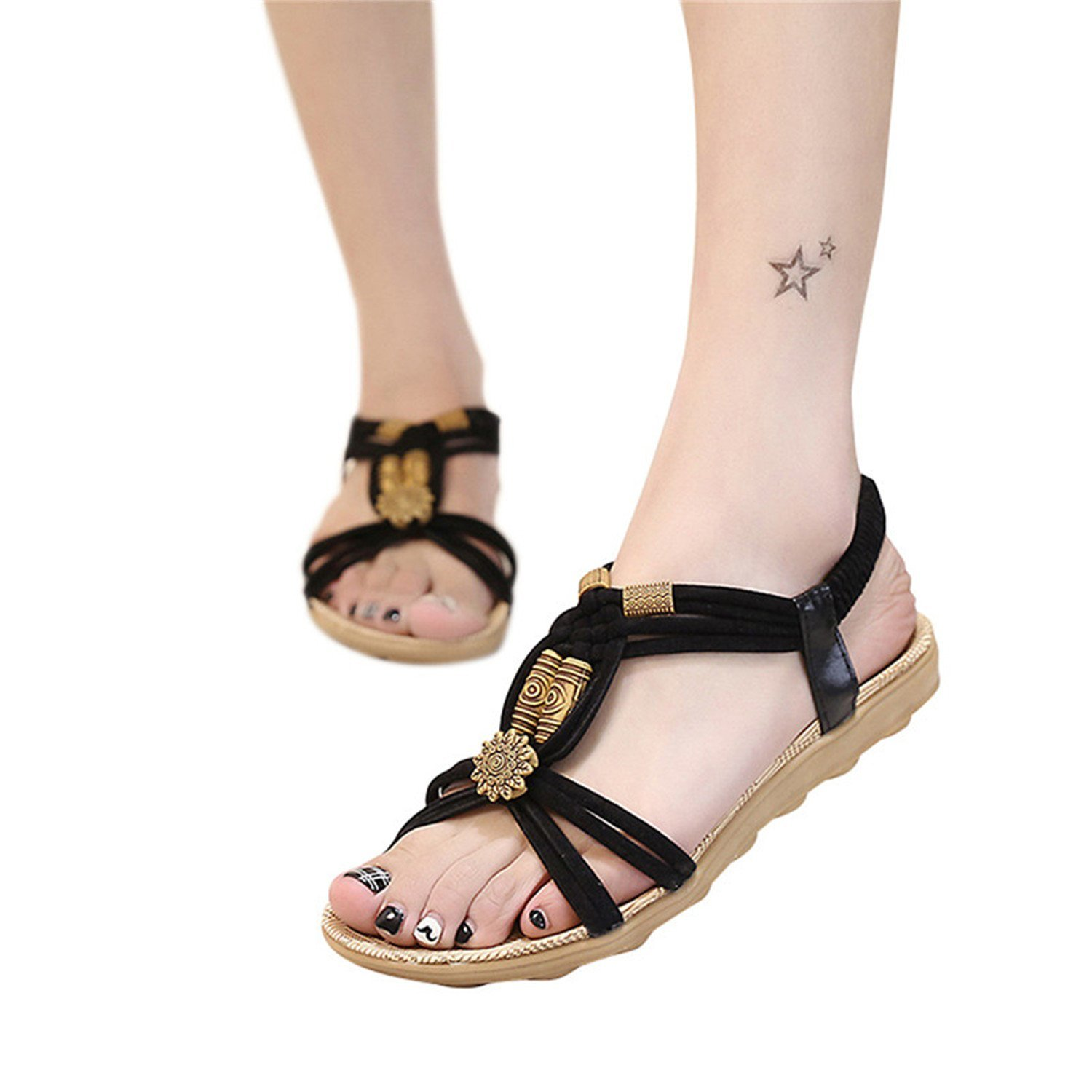 Henraly New Summer Sandals Women Lace-Up Flat Fashion Women Shoes Casual Occasions Comfortable Female Students Sandals