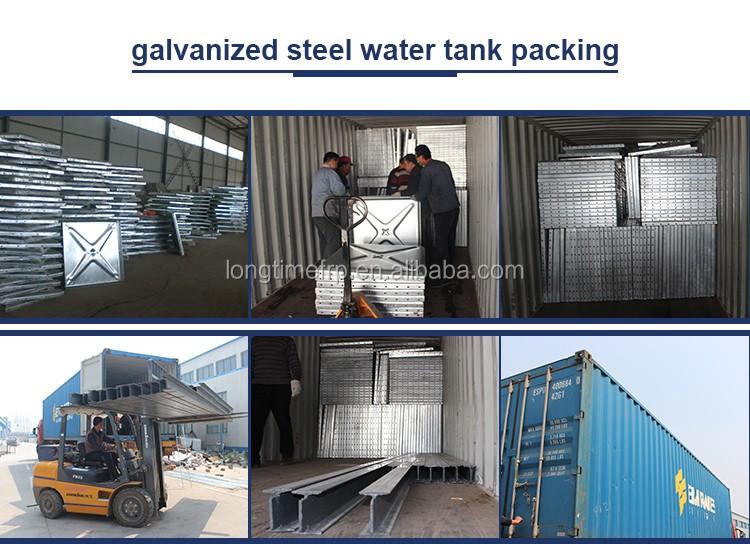 Zinc galvanized steel Water Tank