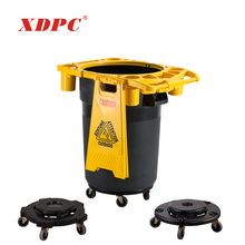 Wholesale plastic garbage can dustbin wheelie bin cart 4 wheels dolly trolley for waste trash bins