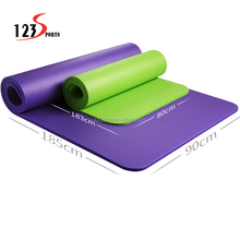 High Quality Wholesale Custom Cheap Logo Customized 15mm Thickness NBR Yoga Mat By Gold Saler Of New Structure