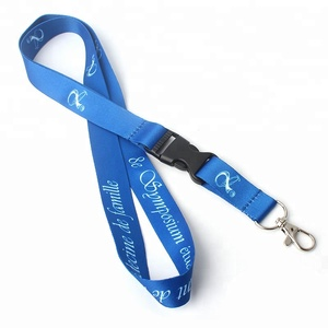 Wholesale Custom Dye Sublimation Printed ID Card Satin Breakaway Neck Lanyard with Own Name Logo