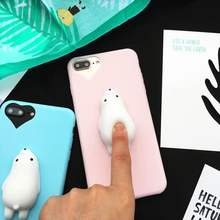 2017 hot newest Squishy Animal Toys Custom 3D Silicone Nail Finger Pinch Phone Case tpu for iPhone 7 and others