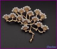 pine brooch pin, metal brooch pin for dress