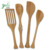 high quality Bamboo Kitchen Utensils Tool Spoon Set with Left Handed Can Opener