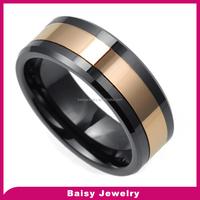 Fashion New Style Wholesale man ceramic wedding rings