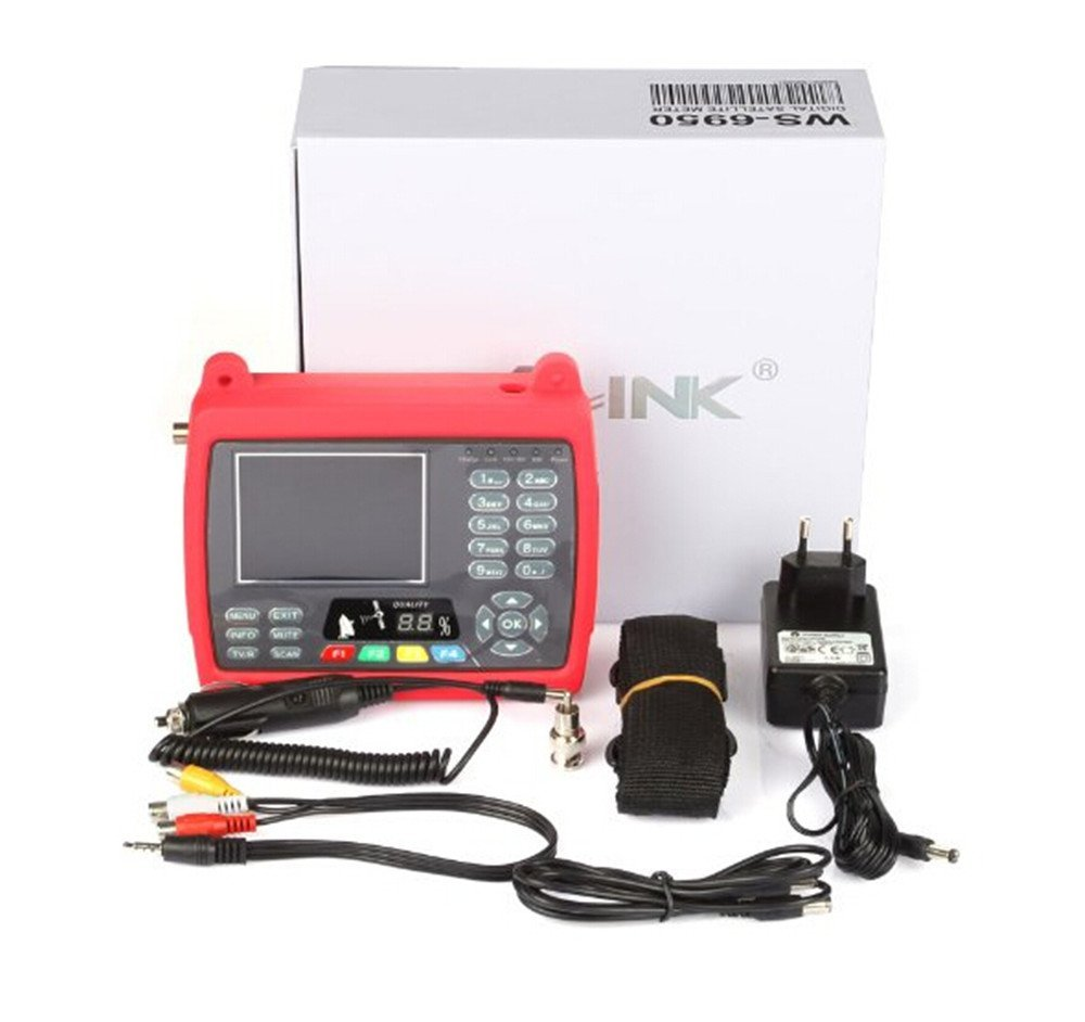 Satlink Ws-6950 3.5 Inch Dvbs Dvb-s Digital Satellite Finder Meter