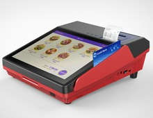 POS tablet device the first choice for payment in supermarket