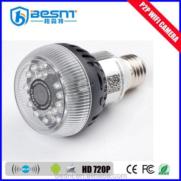 Newly Wireless Wifi Hidden Camera Light Bulb P2p 720p Home ...