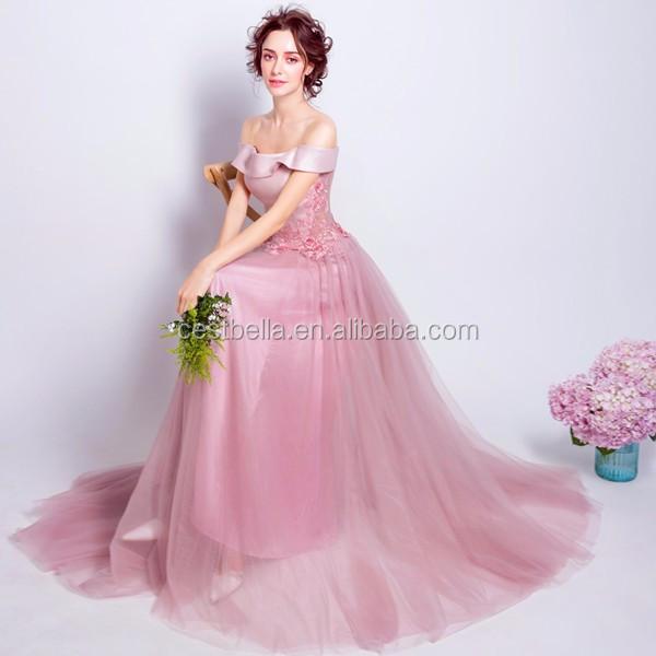 Vestido De Noche De Gasa Rosa Diseño Espalda Abierta Vestido Sin ...