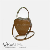 Brown jewelry box store delicate girls leather Shoulder bag