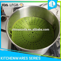 Temperature resistant design silicone steamer for cooking