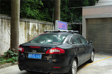 Hot selling double side electronic communication LED taxi top led display with low price
