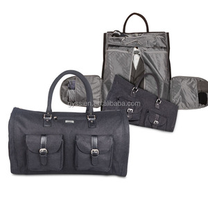 100% Cotton Custom Mens Luxury business travel foldable Garment Suit Bags for Amazon