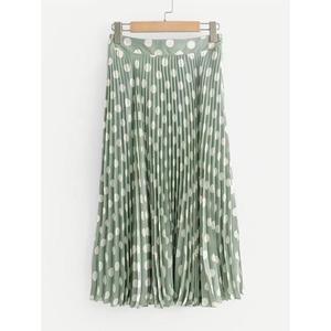 e9c67c669c Wholesale custom long chiffon skirt for women casual spot pleated for girl  long knee length lady