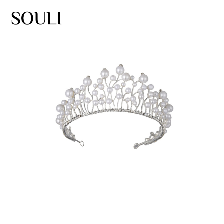 Wholesale pearl jewelry personality beauty queen bridal tiaras crowns for girls