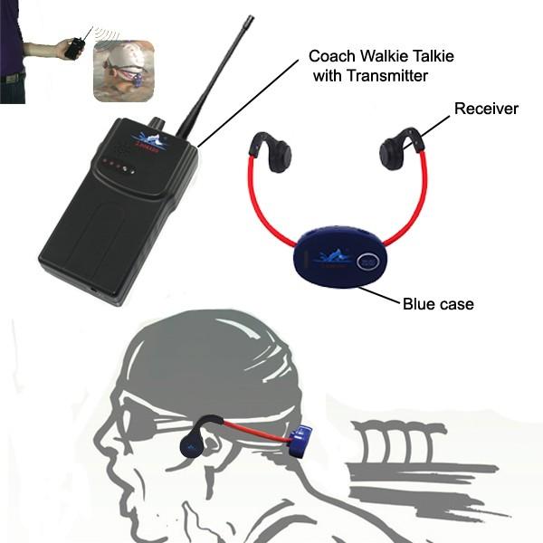 수영 훈련 FM 송신기 이야기 뼈 전도 헤드폰 수신기 수영 통신 시스템