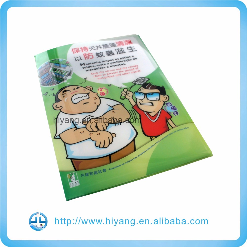 Printing Factory customized order pp a4 file folder mechanism