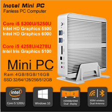 Mac mini PC Hot 5th Gen Intel Core i5 4258U Fanless Desktop Computer Iris HD 5100 Graphics 16GB RAM 256GB SSD