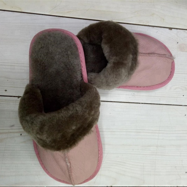 2018 hot sale sheepskin warm winter hotel home lady man <strong>slipper</strong>